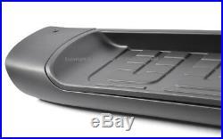 07-14 Toyota FJ Cruiser Running Board Side Step Nerf Bar Rail Kit Aluminum Black
