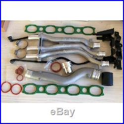 10 Pieces Aluminum Coolant Pipe Upgrade Kit Fit For 03-06 Porsche Cayenne 4.5 V8