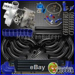 12PC Piping Universal 2.5 Intercooler/Blow Off Valve V-Band Turbocharger Kit