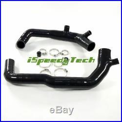 2.0Upgraded Turbo Silicone Inlet Intake Kit Fit BMW 135i 335i 535i Z4 N54 Black