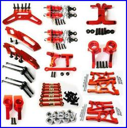 Aluminum metal Front Rear Upgrade parts Kit DIY Fit For 1//10 HPI WR8/_flux Rc Car