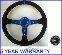 Blue Steering Wheel And Boss Kit Fit All Subaru Impreza Wrx And Sti 2001-2007