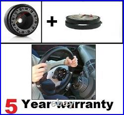 Deep Dish Steering Wheel & Snap Off Boss Kit Fits 36 Spline Land Rover Defender