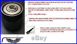 Deep Dish Suede Steering Wheel And Boss Kit Hub Fit Vw T4 Transporter 96-03