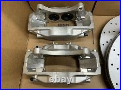 FITS 2008+ Subaru WRX STI Front Upgrade Kit To STI Brake Caliper Set 4 Piston