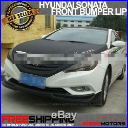 Fit 11-2014 Hyundai Sonata Front Bumper Lip Spoiler Kit Black PP Unpainted