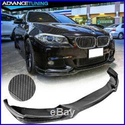 Fits 11-16 BMW F10 Mtech End. CC Style Front Lip Chin Spoiler Carbon Fiber