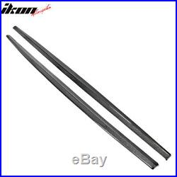 Fits 11-16 BMW F10 Mtech MP Style Side Skirts Extension Carbon Fiber