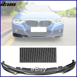 Fits 12-18 BMW F30 Mtech V Style Front Bumper Lip Air Dam Carbon Fiber