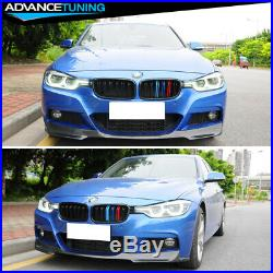 Fits 12-18 BMW F30 Mtech V Style Front Bumper Lip Chin Spoiler Carbon Fiber