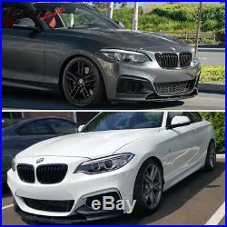 Fits 14-19 BMW F22 Mtech MP Style Front Bumper Lip Chin Spoiler Carbon Fiber