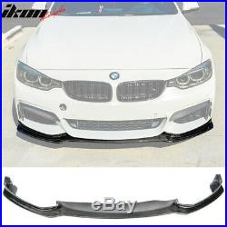Fits 14-19 BMW F32 F33 F36 Mtech End. CC Style Front Bumper Lip Carbon Fiber