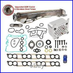 Ford 6.0 Upgrade Oil Cooler & Upgraded EGR Cooler Kit Fit 04 10 FORD Diesel