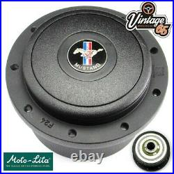 Ford Mustang 1967 to 1976 Fastback Coupe Steering Wheel Boss Fitting Kit Black