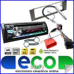JVC Bluetooth CD MP3 USB Full BOSE Car Stereo Upgrade Kit fit AUDI A4 00-05 B6