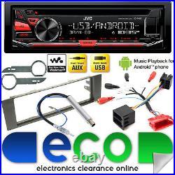 JVC CD MP3 USB Aux Full BOSE System Car Stereo Upgrade Kit fit AUDI A4 00-05 B6