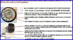Leather Racing Steering Wheel & Boss Kit Hub Fit Land Rover Defender 36 Spline