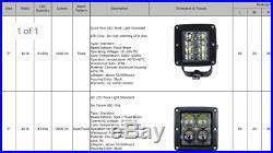 POLARIS RANGER 900 XP UPGRADE TO LED CUBE HEADLIGHTS KIT fit 2013-2018 CREW