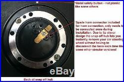 Steering Wheel & Snap Off Boss Kit Hub Fits 36 Spline Land Rover Defender 350mm