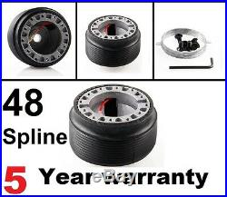 Suede Deep Dish Steering Wheel And Boss Kit Fit Land Rover Defender 48 Spline