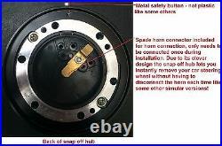 Suede Deep Dish Steering Wheel Snap Off Boss Kit 36 Spline Land Rover Defender