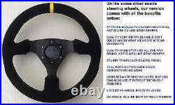 Suede Drifting Steering Wheel And Boss Kit Hub Fit Bmw E36 3 Series & M3 Coupe