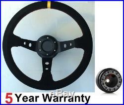 Suede Steering Wheel And Boss Kit Fit All Subaru Impreza Wrx And Sti 2001-2007