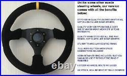 Suede Steering Wheel And Boss Kit Fit All Subaru Impreza Wrx Sti 2001-2007