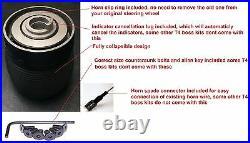 Suede Steering Wheel & Boss Kit Hub Adapter Fit Vw T4 Transporter 96-03 Black