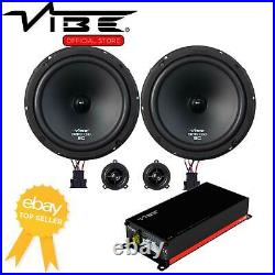 Vibe Optisound Amplified 8 VW T6 520w Car Stereo Speaker Upgrade Fitting Kit