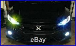 Yellow Ice Blue LED High Beam Headlight Bulbs Kit for Honda Accord Civic 2008-18